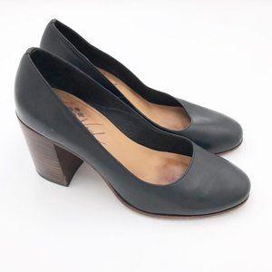Patricia Nash Anita Leather Closed Toe Black Pumps